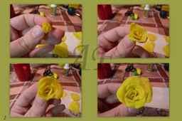 Цветы из пластилина своими руками поэтапно роза