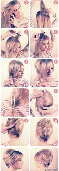 Причёски на средние волосы девочке в домашних условиях
