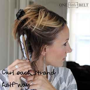 Хаотичная укладка на длинных волосах