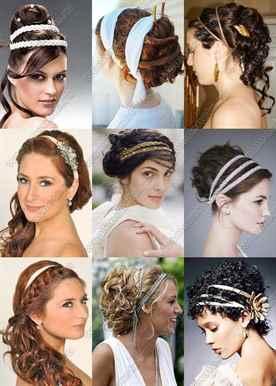 Прически с греческим ободком для волос