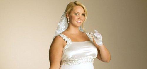 свадебные прически для полных невест