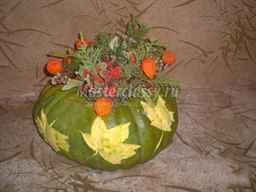 Поделки осенние в садик с тыквой