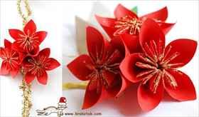 Как сделать цветок на новый год