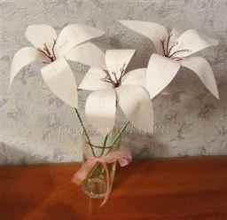 Как сделать белую лилию из бумаги