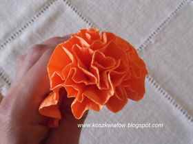 Цветок гвоздика оригами из бумаги