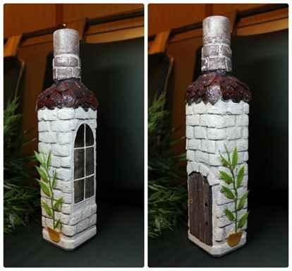 Декорирование бутылки своими руками фото