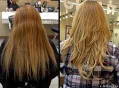 Фото стрижка углом на длинные волосы