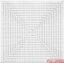 На фото показана схема вязания