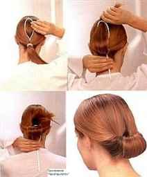 ПодОрганайзер для Прически пучок на длинные волосы