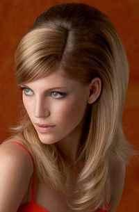 Объемные прически с прямыми волосами