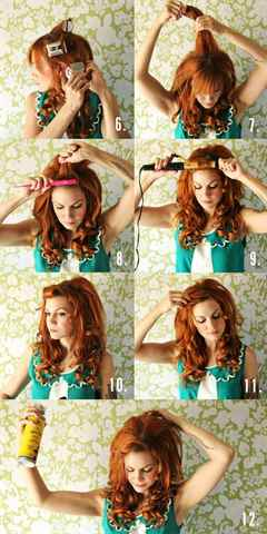 Прическа с кудрявыми волосами в домашних условиях