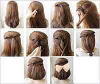 Прическа на день рождения на средние волосы