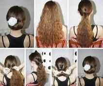Сделать прическу самой себе на длинные волосы на новый год
