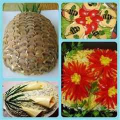 Простые украшения для салатов своими руками 53