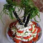 Украшение салат с