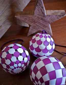 Объемные шары на елку своими руками