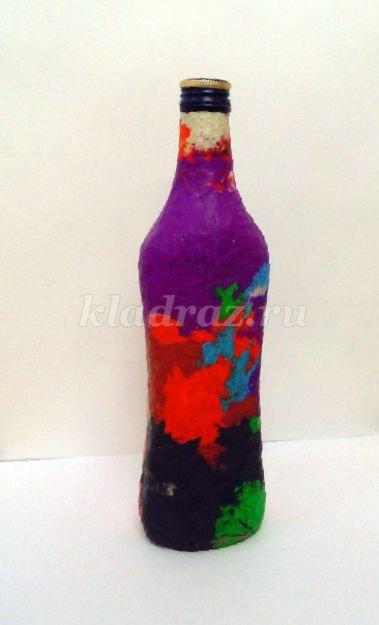 Сделать вазу из бутылки своими руками видео