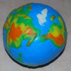 Как сделать глобус из пластилина своими руками