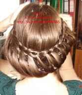 Косички для девочек на средние волосы
