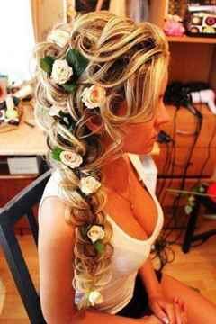 свадебные прически фото с заплетением волос