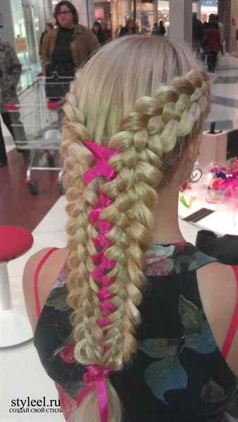 детские прически с лентами на длинные волосы