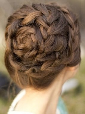 Косы плетение по кругу головы