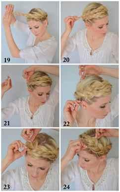 Как сделать прическу косу вокруг головы