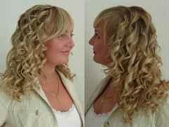 Кудри на средние волосы с челкой