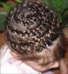 «корзинки» из волос.