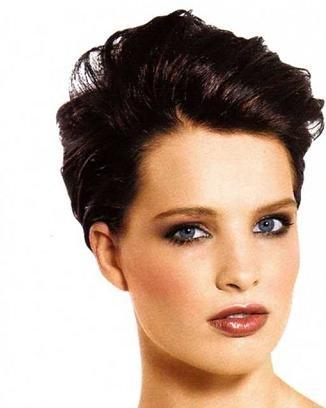 Женские прически на короткие волосы полное лицо 77