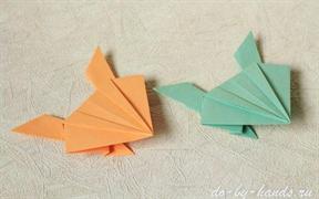 Лягушка оригами из бумаги: от простой