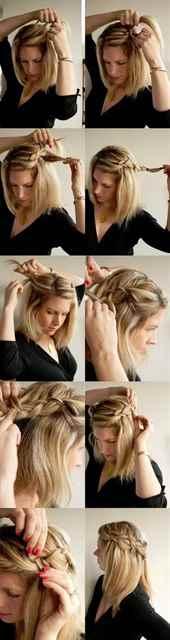 Две косички на короткие волосы