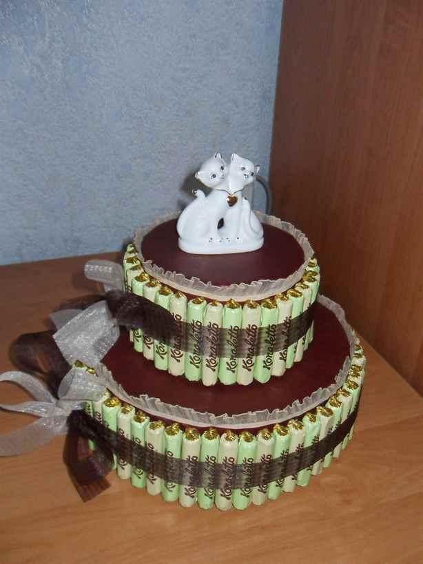 Как сделать своими руками тортик из конфет