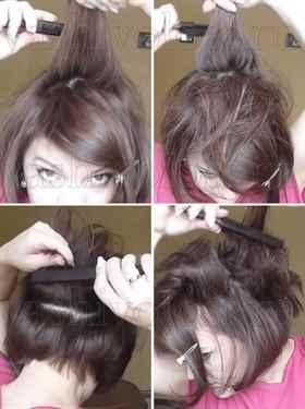 Как сделать начес на длинные волосы