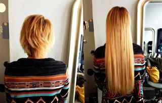 Наращивание волос До и После. фотографий