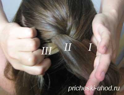 Как делать колосок из волос