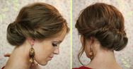Как сделать вечернюю причёску самой себе на средние волосы фото пошагово