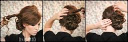 Как сделать вечернюю причёску на средние волосы самой себе