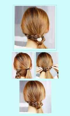 Самые красивые причёски для девочек собственными руками. Фото №3