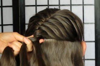 Плетение кос на длинные волосы пошаговое