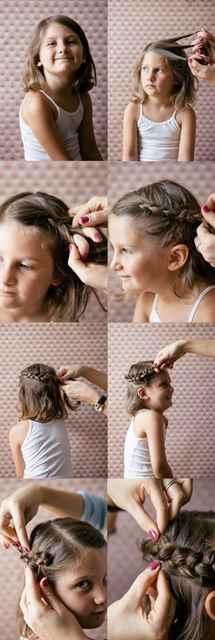 Прически для девочек быстро