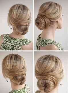 Пучок из волос с бубликом