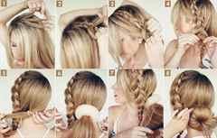 Как пользоваться бубликом для волос пошагово