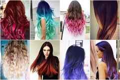 Окрашивание волос двумя темными цветами