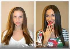 До и после окрашивания волос фото