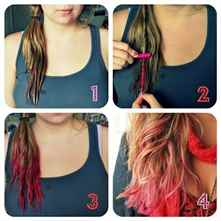 Как покрасить мелированные волосы - 4