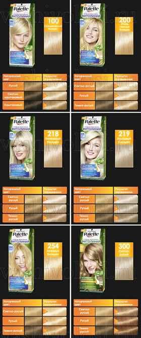 Палитра красок для волос Палет оттенки описание фото и отзывы