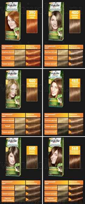 Краска для волос палет описание