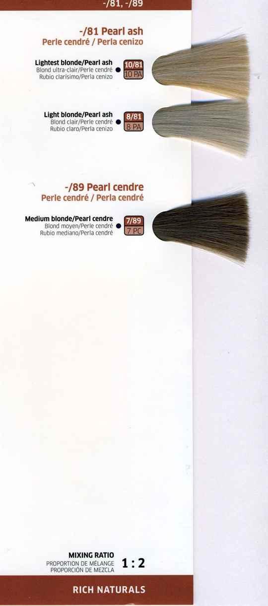 Велла палитра красок для волос официальный