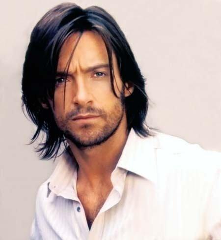 Прически для длинных волос мужчины